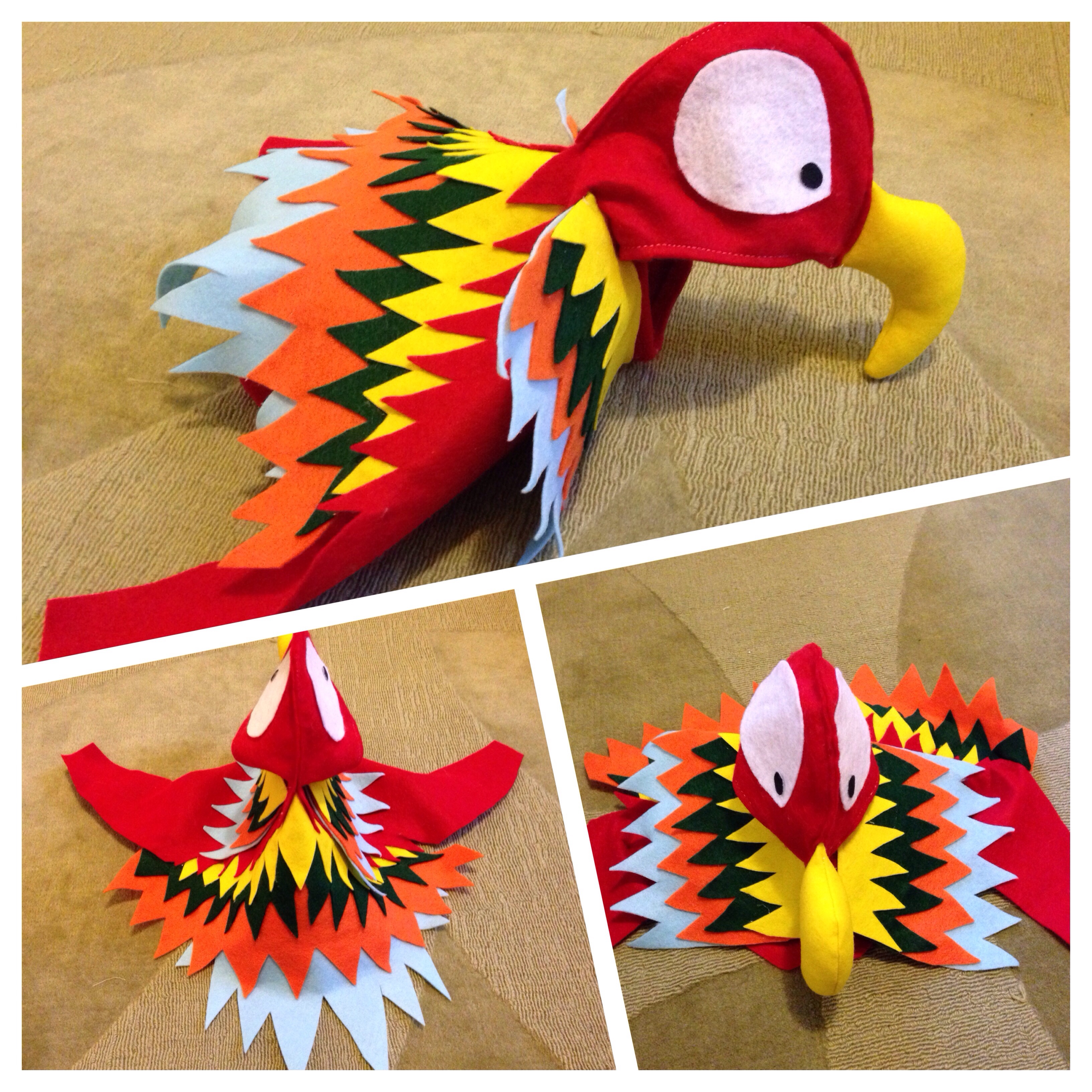 For adult parrot costume word honour